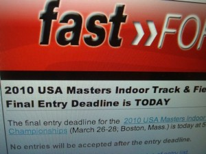 USATF Email Yesterday