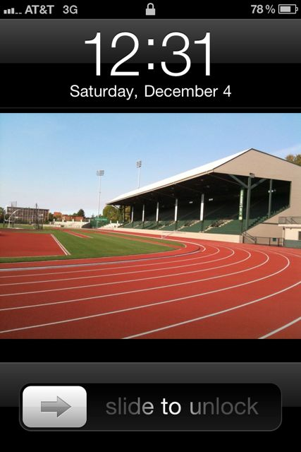 My Phone's Home Screen, Hayward Field